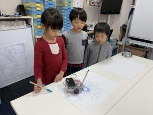 お絵描きロボットでお花を描画